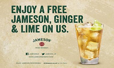Free Jameson, Ginger & Lime Drink