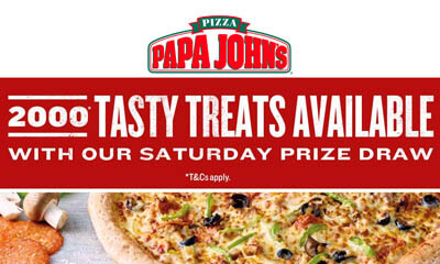 Free Papa John's Pizzas