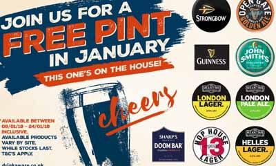 Free Pint This January