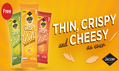Free Pack of Mini Cheddars Crispy Thins