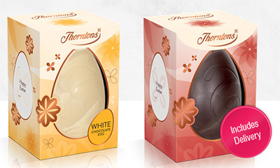 2 Free Thorntons Personalised Easter Eggs