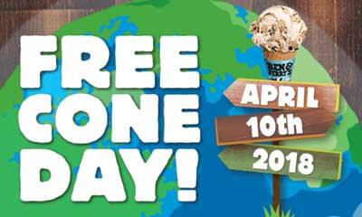 Free Ben & Jerry Ice Cream Cone