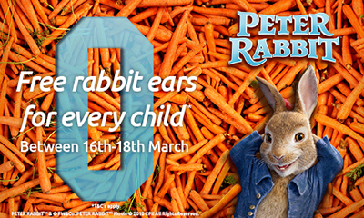 Free Peter Rabbit Ears for Every Child at Odeon