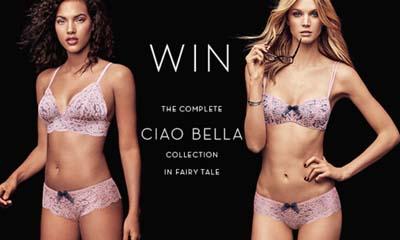 Win a Ciao Bella Bralette, Bra & Brief Set