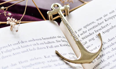 Free Engraved Page Anchor Bookmark