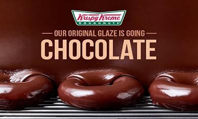 Free Hot Chocolate Glazed Doughnut
