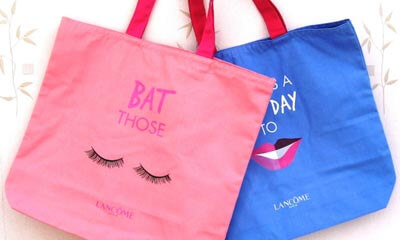 Free Lancome Tote Bags & Product Samples