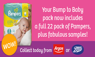 Free Pampers Nappies (22 Pack)