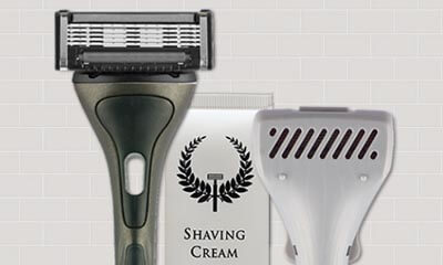 Free Razor & Peppermint Shaving Cream