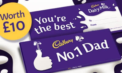 Win a Dairy Milk No1 Dad 850g Gift Bar