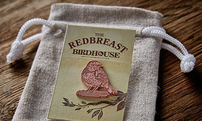 Free Redbreast Pin Badge and Cotton Pull String Bag