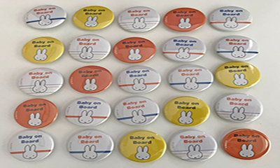 Free 'Baby on Board' Miffy Badge
