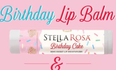 Free Stella Rosa Birthday Cake Lip Balm