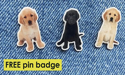 Free Puppy Badge