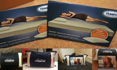 Free Tempur Travel Pillow