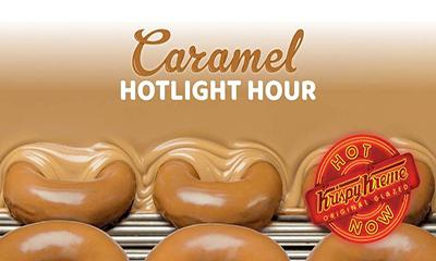 Free Caramel Glazed Krispy Kreme