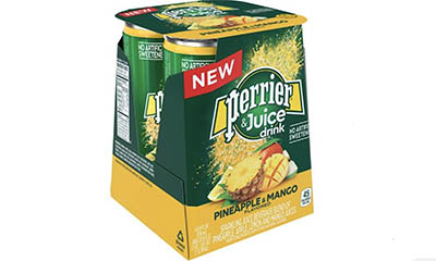Free Perrier Pineapple & Mango Juice