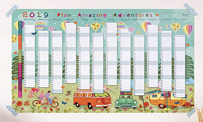 Free 2019 Wall Planner