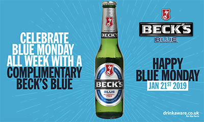 Free Beck's Blue Alcohol Free Beer