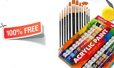 Free Acrylic Paint Set