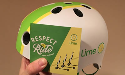 Free Lime Bicycle Helmet