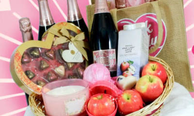 Free Pink Lady Valentine's Hampers