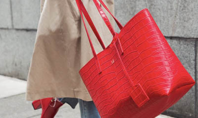 Win a Red Matte Croc Large Tote Bag