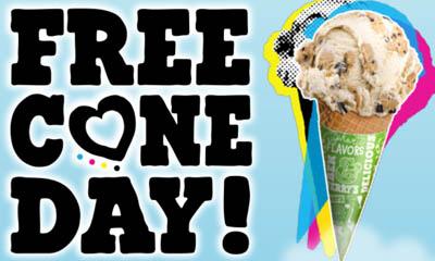 Free Ben & Jerrys Ice Cream Cone