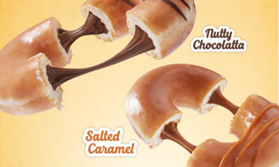 Free Krispy Kreme Nutty Chocolate or Salted Caramel Doughnut