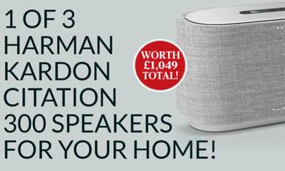 Win 1 of 3 Harman Kardon Citation 300 Speakers