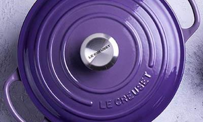 Win a Le Creuset Ultra Violet Round Casserole Pot
