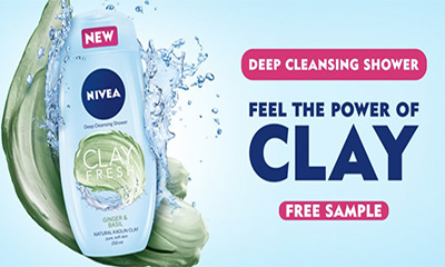 Free Nivea Clay Fresh Shower