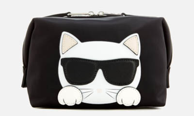 Free Karl Lagerfeld Neon Cosmetics Pouch