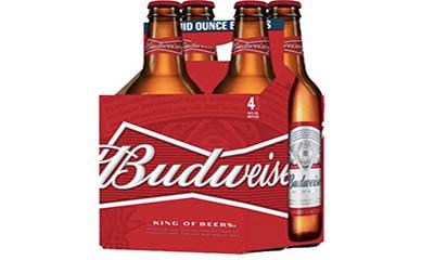 Free Budweiser Bottles (4 Pack)