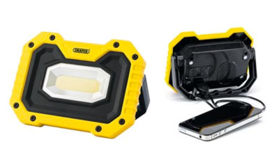 Free Rechargeable Worklights with Wireless Speakers