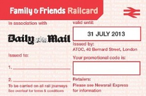 Free Two Month Family & Friends Railcard