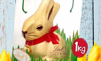 Win A 1kg Lindt Giant Chocolate Bunny Freesamplescouk