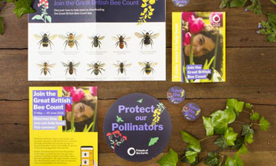 Free Bee Stickers & Posters