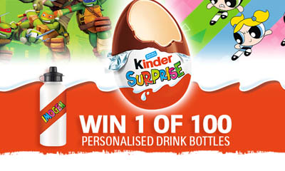 Free Kinder Personalised Drinks Bottles