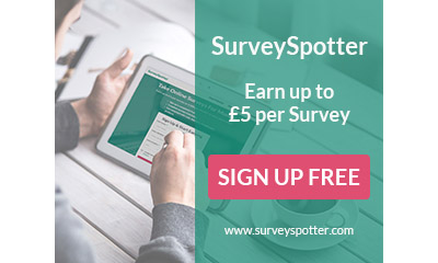 Earn up to £300 per survey in your spare time!