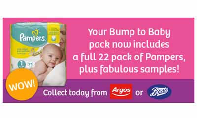 Free 22-Pack of Pampers Nappies