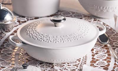 Win a Le Creuset Fleur Cast-iron Casserole Dish