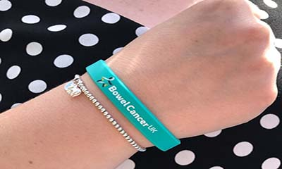 Free Bowel Cancer UK Wristband