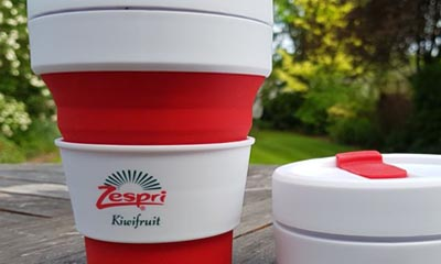 Free Foldable Coffee Cups from Zespri