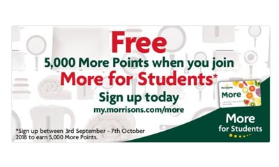 Free 5,000 More Points from Morrisons