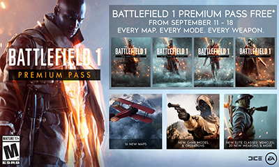Free Battlefield 1 Premium Pass – Worth £39.99