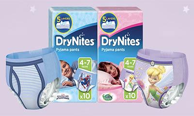 Free Pack of Huggies DryNites