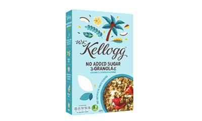 Free W.K. Kellogg Coconut, Cashew & Almond Granola
