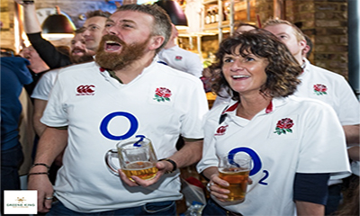 Free England Rugby Match Drink