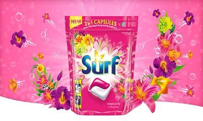 Free Surf Laundry Capsules